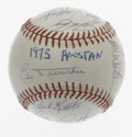 Autographs:Baseballs, 1973 Houston Astros Team Signed Baseball. In what would be hisfinal season before retiring from his legendary baseball car...