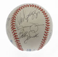 Autographs:Baseballs, 1998 Tampa Bay Devil Rays Team Signed Baseball. From the inauguralseason of the expansion Tampa Bay Devil Rays we offer th...