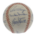 Autographs:Baseballs, Brooklyn and Los Angeles Dodgers Multi-Signed Baseball.Picture-perfect signatures courtesy of thirteen members from thest...