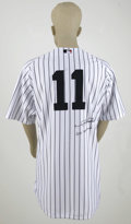 "Autographs:Jerseys, Gary Sheffield Signed ""Go Yankees"" Jersey. Majestic Authentic Collection home New York Yankees pinstripe jersey in the same..."