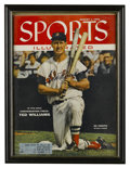 "Autographs:Others, 1955 Ted Williams Signed ""Sports Illustrated"" Magazine. Here wepresent the August 1, 1955 edition of Sports Illustrated..."