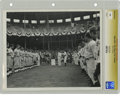 Baseball Collectibles:Photos, Circa 1940 Babe Ruth Vintage Photograph. Unique photograph depicts the great Babe Ruth shaking hands with actor Gary Cooper...