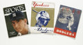 Baseball Collectibles:Publications, 1949-56 New York Baseball Periodicals Lot of 3. Assorted groupingrelating to the hallowed tradition that is baseball in th...(Total: 3 Items)