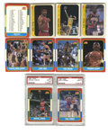 Basketball Cards:Sets, 1986-87 Fleer Basketball Complete Set with Fleer Stickers Lot of 7. Complete set of Fleer's 1986-87 issue, the most popular...