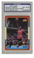 Basketball Collectibles:Others, Michael Jordan Signed Rookie Reprint PSA NM-MT 8. A high-qualitysignature from perhaps the finest player to ever grace the...