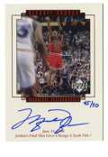 Basketball Collectibles:Others, 1999 Upper Deck Signed MJ Master Collection Michael Jordan Signature Performances #MJ10. Hand numbered and signed card from...