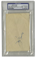 Boxing Collectibles:Autographs, Joe Louis Cut Signature PSA Authentic. The Brown Bomber has applieda glorious blue ink signature to the cut we offer here....