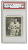 Football Cards:Singles (Pre-1950), 1948 Bowman Steve Van Buren #7 PSA NM 7. From the man consideredthe best back in the game at the time, we offer this Steve...