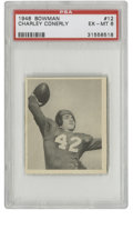 Football Cards:Singles (Pre-1950), 1948 Bowman Charley Conerly #12 PSA EX-MT 6. Nice example fromBowman's first venture into the realm of football cards feat...