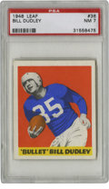 Football Cards:Singles (Pre-1950), 1948 Leaf Bill Dudley #36 PSA NM 7. Toning is such an issue withthe 1948 Leaf football set that to see an example with whi...