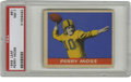 Football Cards:Singles (Pre-1950), 1949 Leaf Perry Moss #81 PSA NM 7. Perry Moss is shown in this '49 Leaf football card, which is representative of the vinta...
