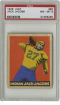 Football Cards:Singles (Pre-1950), 1949 Leaf Jack Jacobs #90 PSA NM/MT 8. Indian Jack Jacobs, as hewas known for his full blood Creek Indian heritage, was a ...
