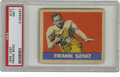 Football Cards:Singles (Pre-1950), 1949 Leaf Frank Seno #127 PSA NM 7. Marvelously centered example,uncommon for the '49 Leaf issue, depicts New York Bulldog...