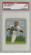 Football Cards:Singles (1950-1959), 1950 Bowman Lou Groza #6 PSA NM 7. The Hall of Fame tackle and kicker for the Cleveland Browns Lou Groza is the subject of...