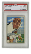 Football Cards:Singles (1950-1959), 1952 Bowman Small Dub Jones #86 PSA NM/MT 8. Yet another high-grade offering from the '52 Bowman Small issue, this one feat...