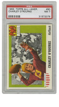Football Cards:Singles (1950-1959), 1955 Topps All-American Charley O'Rourke #90 PSA NM 7. Boston College backfield standout Charley O'Rourke, who excelled bot...