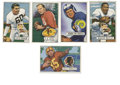 Football Cards:Lots, 1951 Bowman Football Hall of Famers Group of 5. Each of the five cards offered in this lot features a Hall of Fame football...
