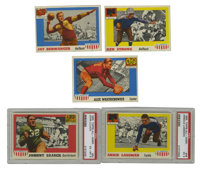 1955 Topps All-Americans Football Group Lot of 31. Thirty-one cards from the 1955 Topps All-Americans Football issue are...