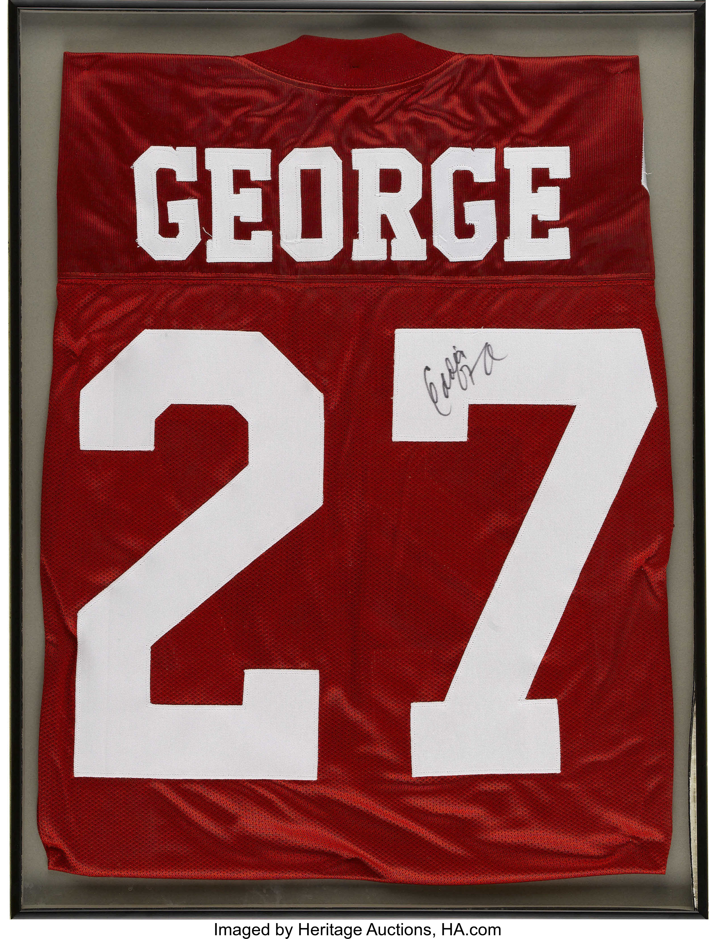 new style 595de 6e782 Eddie George Signed Jersey. 1995 Heisman winner and one of ...
