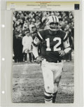Football Collectibles:Photos, 1968 Joe Namath AFL Championship Vintage Photograph. Broadway Joe Namath was no stranger to the big game. The 1968 AFL Cha...