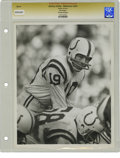 Football Collectibles:Photos, Circa 1970s Johnny Unitas Vintage Photograph. The indomitableJohnny Unitas, whose grit in the clutch was akin to godliness...