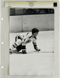 Hockey Collectibles:Photos, Circa 1970 Bobby Orr Vintage Photograph. Since becoming thehighest-paid player in league history when he broke into the le...