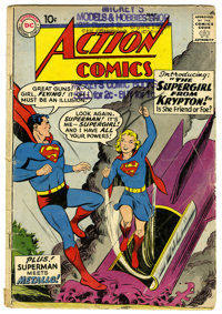 Action Comics #252 (DC, 1959) Condition: GD. Origin and first appearance of Supergirl. First appearance of Metallo. Curt...