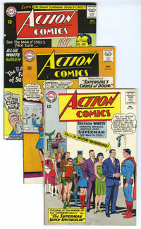Action Comics Group (DC, 1964-66) Condition: Average VF+. Very attractive group from the Silver Age which includes #309...