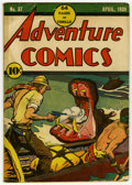 Golden Age (1938-1955):Adventure, Adventure Comics #37 (DC, 1939) Condition: FR. This issue is missing the back cover. The front cover was re-used on the rare...