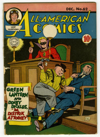 All-American Comics #62 (DC, 1944) Condition: FR/GD. Cover and interior art by Paul Reinman, with additional interior ar...