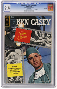 Ben Casey Film Stories #1 File Copy (Gold Key, 1962) CGC NM 9.4 White pages. All photos. Photo pin-up back cover. Overst...