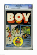 Golden Age (1938-1955):Crime, Boy Comics #19 (Lev Gleason, 1944) CGC VF+ 8.5 White pages. Charles Biro cover. Rudy Palais and Dick Briefer art. Overstreet...
