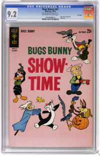Bugs Bunny #87 File Copy (Gold Key, 1962) CGC NM- 9.2 Off-white to white pages. Bugs Bunny Showtime. Giant-size. Overstr...