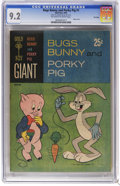 Silver Age (1956-1969):Cartoon Character, Bugs Bunny and Porky Pig #1 File Copy (Gold Key, 1965) CGC NM- 9.2 Off-white to white pages. Paper cover. 100 pages. Overstr...