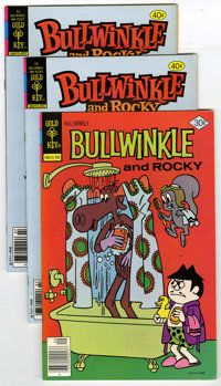 Bullwinkle #17 and 25 Group (Gold Key, 1977-80) Condition: Average VF/NM. Lot contains multiple copies of two Bullwinkle...