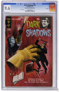 Dark Shadows #12 File Copy (Gold Key, 1972) CGC NM+ 9.6 Cream to off-white pages. Painted cover. Joe Certa art. Overstre...