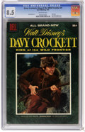 Golden Age (1938-1955):Miscellaneous, Dell Giant Comics - Davy Crockett, King of the Wild Frontier #1 (Dell, 1955) CGC VF+ 8.5 Off-white pages. Fess Parker photo ...