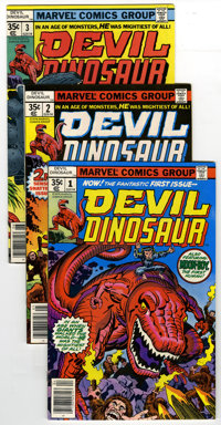 Devil Dinosaur Group (Marvel, 1978) Condition: Average NM-. The entire run of Jack Kirby's Devil Dinosaur is represented...