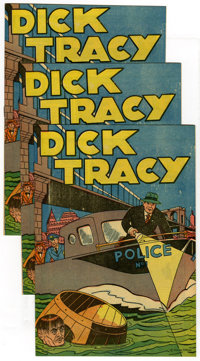 Dick Tracy Popped Wheat Giveaway #nn Group (Sig. Feuchtwanger, 1947) Condition: Average NM+. Chester Gould art. 1940 rep...