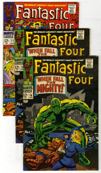 Fantastic Four Group (Marvel, 1968-76) Condition: Average VF/NM. Several Silver Surfer appearances are featured in this...