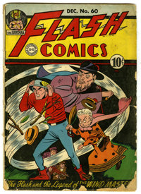 Flash Comics #60 (DC, 1944) Condition: GD-. Martin Naydel cover and art on the Flash story; also includes Hawkman (by Sh...