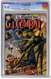 G.I. Combat #96 (DC, 1962) CGC NM 9.4 Off-white to white pages. Grey tone cover. Jerry Grandenetti and Jack Abel art. Ru...