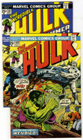Silver Age (1956-1969):Superhero, The Incredible Hulk #180 and 182 Group (Marvel, 1974). Included are #180 (FN/VF; first brief appearance of Wolverine on the ... (Total: 2 Comic Books)