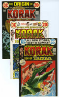 Bronze Age (1970-1979):Miscellaneous, Korak, Son of Tarzan Group (DC, 1972-75) Condition: Average VF. Lotof 46 Korak, Son of Tarzan books is comprised of mul... (Total: 46)