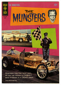 Munsters #6 (Gold Key, 1966) Condition: VF. George Barris coffin car photo cover. Photo pin-up back cover. Overstreet 20...