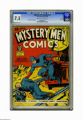 Golden Age (1938-1955):Superhero, Mystery Men Comics #14 Rockford pedigree (Fox, 1940) CGC VF- 7.5 Cream to off-white pages. Cover by Charles Nicholas. George...