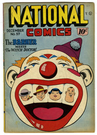 National Comics #57 (Quality, 1946) Condition: VG/FN. Al Bryant cover. Klaus Nordling, Jack Cole, and Al McWilliams art...