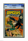 Golden Age (1938-1955):Miscellaneous, Rangers Comics #44 (Fiction House, 1948) CGC VF 8.0 Off-white to white pages. Bob Lubbers cover. Interior art by Lubbers, Ma...