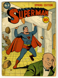 Superman #4 (DC, 1940) Condition: Apparent PR. Second mention of the Daily Planet. Second appearance of Lex Luthor (with...