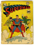 Golden Age (1938-1955):Superhero, Superman #17 (DC, 1942) Condition: FR. Fred Ray cover. Hitler and Hirohito cover and appearances. John Sikela art. First app...